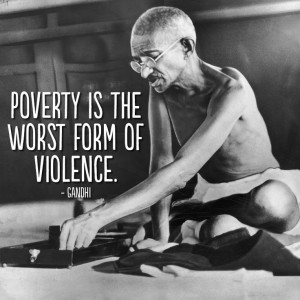 Mahatma Gandhi. Poverty. Spread by www.compassionateessentials.com and ...
