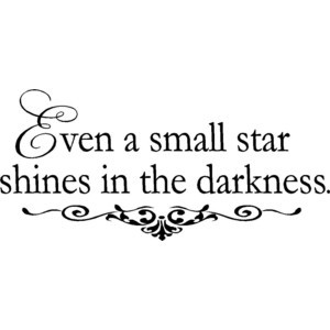 Inspirational Wall Quote Small Star