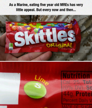 Oh, The Lime Skittles