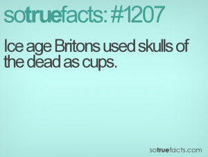 Ice age Britons used skulls of the dead as cups.