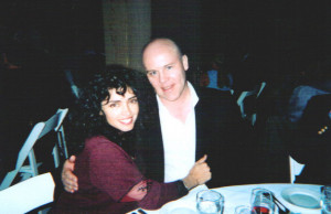 Her with Thomas Dolby, they've been married since 1988)