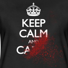 keep calm and carry on blood spatter zombie mantenere la calma e ...