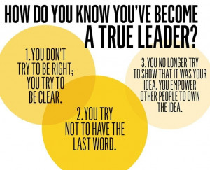 have been focused on leadership and what it takes to be a great leader ...
