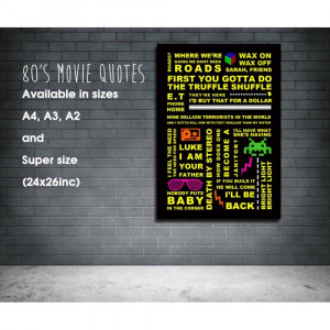 80s movie quote print