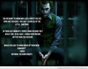 Joker The Dark Knight Quote