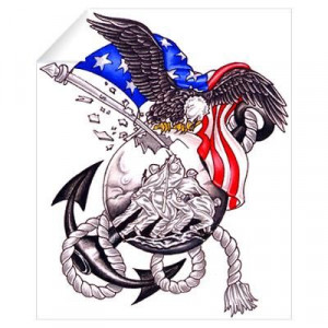 Proud US Marine Wall Decal