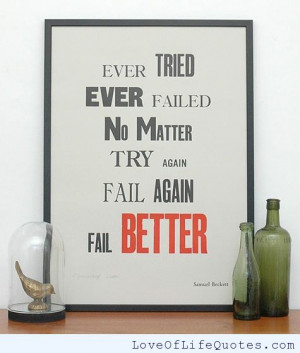 related posts ever tried ever failed the master has failed more times ...