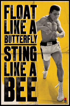Motivational wallpaper on Muhammad Ali : Float like a butterfly sting ...