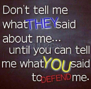 Don't tell me.....