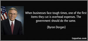 When businesses face tough times, one of the first items they cut is ...