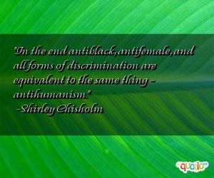 Quotes About Discrimination