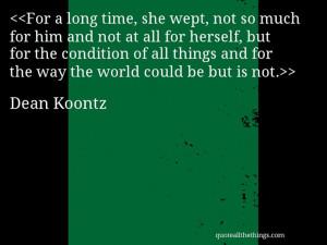 Dean Koontz.