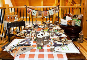 kids thanksgiving crafts table