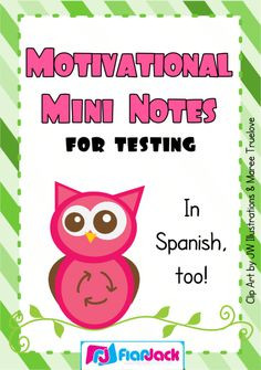 Motivation Mini Notes for Testing in Spanish & English - FREE product ...