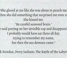 quotes, logan lerman, love, olympians, percy jackson, rick riordan ...