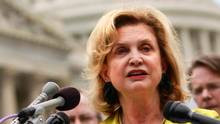 Rep. Carolyn B. Maloney, D-N..Y, speaks at a news conference on ...