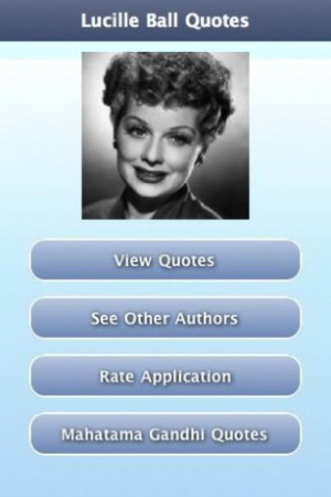 View bigger - Lucille Ball Quotes for Android screenshot