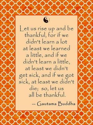 Buddha Quote About Thankfulness