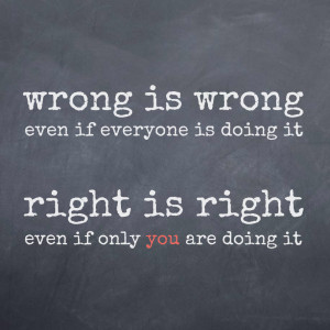 Wrong vs. Right