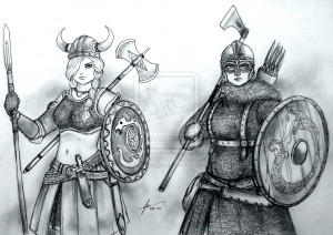 women_warriors__horny_viking_vs_historical_viking_by_gambargin-d75ye03 ...