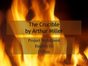 The Crucible by Arthur Miller - PowerPoint by rt3463df