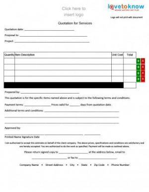 Contractor Quote Form - Portrait Orientation