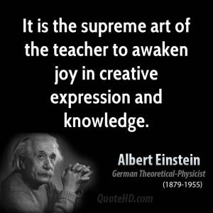 The Supreme Art Teacher...