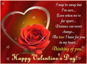 Thinking Of You Valentine Quote