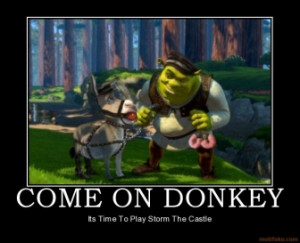 COME ON DONKEY - Its Time To Play Storm The Castle
