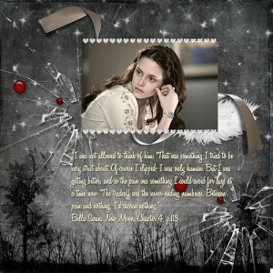 Here is a layout I made with this Quotes using Into the Twilight kit ...
