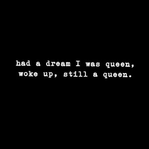 bad girl, black white, cool, queen, quotes