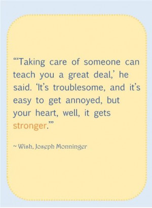 taking care of someone can teach you a great deal... #BabyCenterBlog