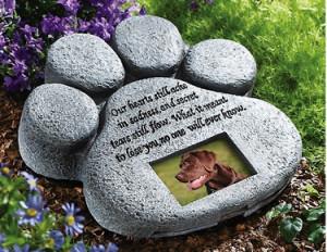 Pet Paw Print Garden Memorial Stone