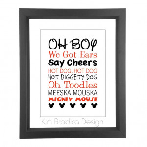 Mickey Mouse Clubhouse Mickey Quotes, 8x10 Digital Print. $20.00, via ...