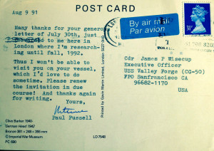 Paul Fussell postcard