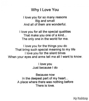Reasons Why I Love You Quotes 2015-2016