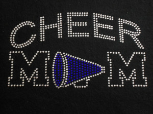 Cheer Mom Rhinestone T-Shirt or Tank Step Mom. $26.00, via Etsy.