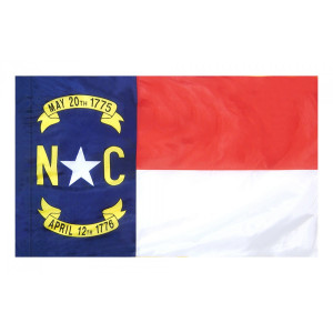 Indoor and Parade Colonial Nyl-Glo North Carolina Flag-Assorted Sizes