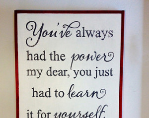 ... Red Slippers framed nursery playroom art sign Glinda the good witch