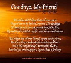 Goodbye, My Friend More