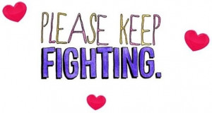 to cancer patients or those fighting other health battles) quote ...