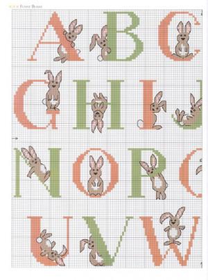 ... bunnies letters crosstitch alphabet cross stitches gillian souter