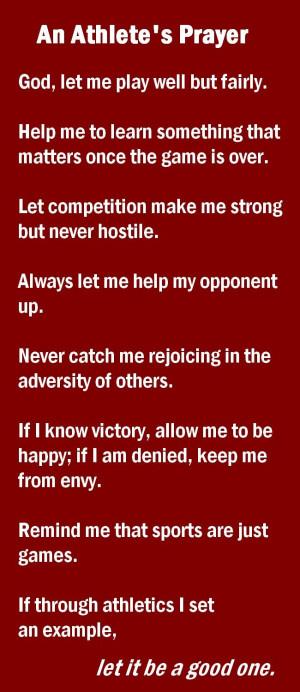 Prayers, Team Prayers, Athlete'S Prayer, Sports Quotes Soccer, Quotes ...