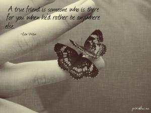 Len Wein quote (friendship, butterflies) by pixielaina