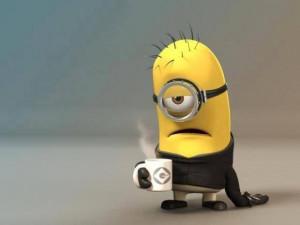 COFFEE Minion Humor SCORE! For one of MY Gal's BAZILLION watt smiles ...