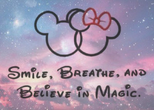 ... magic, mickey, minnie, mouse, music, pink, quote, quotes, smile, swag