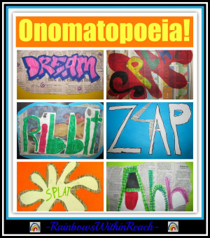 Onomatopoeia Art in the Elementary School via RainbowsWithinReach