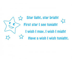 Star Light Star Bright Wall Sticker