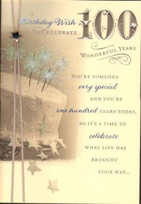 100Th Birthday Card Verses http://www.cardsfromunique.co.uk/Birthday ...