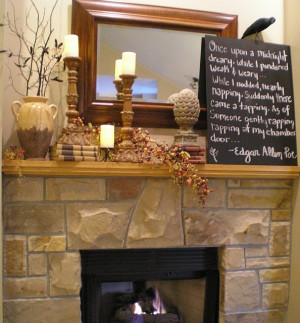 fall decor... love the quote from edgar allen poe!